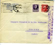 GUERRA CIVIL Carta Con Sello MANILLA -MADRID N° 741 7DIC36   Hasta Francia GB         EL421 - 1931-50 Cartas