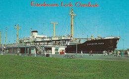 German Cargoship - Christian Russ In Eisenhower Lock S-3055 - Handel