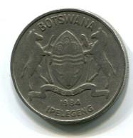 1984 Botswana 50 Thebe  Coin - Botswana