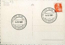 16186 Italia, Special Postmark 1960 Roma Final International Davis Cup Italy Vs. U.s.a. -tennis Davis Cup Italia / Usa - Tennis
