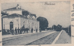 OLD POSTCARD  ITALY  - ITALIA - UN SALUTO DA COCCAGLIO - INCL. STAZIONE - Brescia