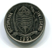 1991 Botswana 10 Thebe Coin - Botswana