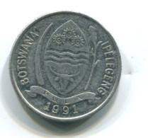 1991 Botswana 1 Thebe Coin - Botswana