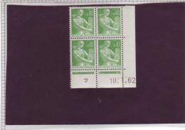 N° 1231 - 0,10F PAYSANNE - L De K+L - 2° Tirage Du 5.1.62 Au 6.2.62 - 10.01.1962 - - Coins Datés