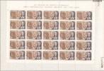 España 1864/1867 ** Personajes. 1968. Pliego De 25 Series - Hojas Completas