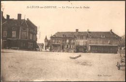 71 SAINT-LEGER-sur-DHEUNE La Place Et Rue Du Reulet, édition Laubepin, Pub Chocolat Vinay - Autres Communes