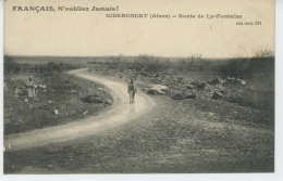 GIBERCOURT - Route De LY-FONTAINE (Guerre 1914-18 - Animation Avec Cadavres Chevaux ) - Otros Municipios