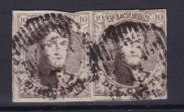 N° 6 Paire Margée - 1851-1857 Médaillons (6/8)