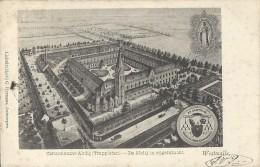 Westmalle.  -   Cistercienzer Abdij  ( Trappisten. )   De Abdij In Vogelvlucht  -    1902  Met  Relais Stempel - Malle