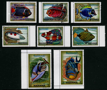 MANAMA - POISSONS - YT 74 + PA 47 - SERIE COMPLETE 8 TIMBRES OBLITERES - Poissons