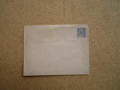 Entier Postal Enveloppe établissement De L'Océanie 25 C Bleu Et Rouge Neuf Rabat Collé Et Pointe Du Rabat Déchiré - Oceanië (1892-1958)