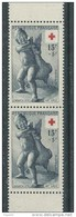 France N° 1049 A XX Au Profit De La Croix-Rouge, Paire Verticale De Carnet, Sans Charnière, TB