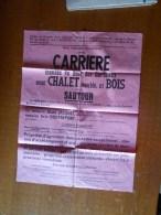 SAUTOUR - PHILIPPEVILLE ; SUPERBE AFFICHE - Vente Publique De La CARRIERE DU BOIS DES CORBEAUX - 1976 - Manifesti