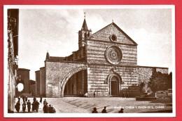 Assisi. Chiesa E Piazza Di Santa Chiara . - Perugia