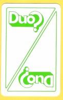 Dos De Carte : Duo ? Loterie Nationale, Lotto - Speelkaarten