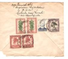 TP 275-236-288(2)-230(2) S/L.recommandée Avion C.Yumbi 2/7/1948 V.Bruxelles Recto Gde Déchirure PR3746 - Poste Aérienne: Lettres