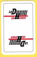 Dos De Carte : La Dernière Heure Les Sports (quotidien, Journal, Presse) - Cartes à Jouer Classiques