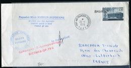 T.A.A.F. - FRANCE N° 2022 / LETTRE POSTÉ A BORD DU MARION DUFRESNE POUR LA FRANCE VIA PORT AUX FRANCA LE 22/1/1979 - TB - Lettres & Documents