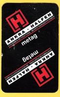 2 Dos De Carte : Ankra Halfen - Metag - Systèmes De Fixations, Industrie - Cartes à Jouer Classiques