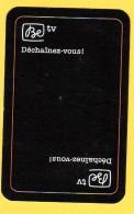 Dos De Carte : Be Tv (chaîne Tv, Télévision) - Cartes à Jouer Classiques