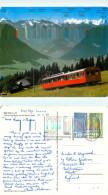 Train, Rigi, SZ Schwyz, Switzerland Postcard Posted 1981 Stamp - SZ Schwyz