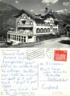 Hotel Bellevue, Wengen, BE Bern, Switzerland RP Postcard Posted 1970 Stamp - BE Berne
