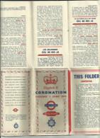 Beau Petit Carnet DepliantComprenant Plusieurs Information Et Carte Complete Sur Londres Avec Tous Les Details Voir Scan - Cartes Routières