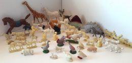 LoT Figurines Anc. Thème ANIMAUX De La FERME Et De La SAVANE (Bts PERNOT, BONUX) - Figurines