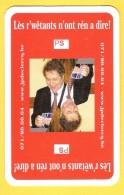 Dos De Carte : Jean-Pierre Declercq PS, Parti Socialiste - Politique , Politiek, Wallon - Speelkaarten