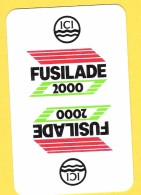 Dos De Carte : Fusillade 2000 ICI Chimie Herbicide - Cartes à Jouer Classiques