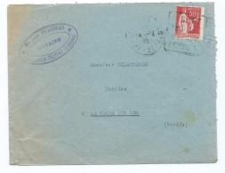 1701 - Lettre 1935 Filaudeau Notaire Argenton-Château Argenton 79 La Roche Sur Yon Daguin Type Paix Mauvais Centrage - Postmark Collection (Covers)