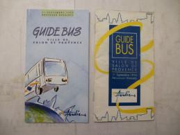 SALON De PROVENCE (13) GUIDE BUS : PLAN Et HORRAIRES Par Ligne 1994 Et 1995 - Lot De 2 - Détails Sur Les Scans - Europe