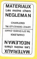 Dos De Carte : Matériaux Negleman Charleroi - Cartes à Jouer Classiques