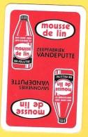 Dos De Carte : Mousse De Lin, Savon Vandeputte Mouscron - Cartes à Jouer Classiques