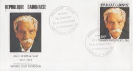 Enveloppe  FDC  1er  Jour   GABON     Albert   SCHWEITZER   1993