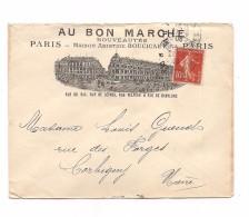 ENVELOPPE MAGASIN AU BON MARCHE -  SUPERBE VERSO - - France