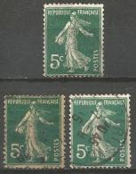 France - F1/219 - Type Semeuse Camée - N°137 - 3 Ex.obl. - 1906-38 Sower - Cameo