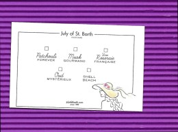 JULY OF ST BARTH 5 PERFUMES COLLECTION CARTE - Cartes Parfumées