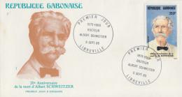 Enveloppe  FDC  1er  Jour   GABON     Albert   SCHWEITZER   1985