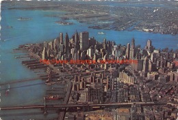 1967 Lower Manhattan Skyline From The Air New York City - Manhattan