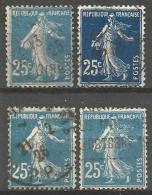 France - F1/223 - Type Semeuse Camée - N°140   4ex.obl. - 1906-38 Sower - Cameo