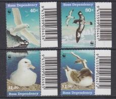 Ross Dependency 1997 Sea Birds WWF 4v  (code In Margin) ** Mnh (33889A) - Ross Dependency (Nieuw-Zeeland)