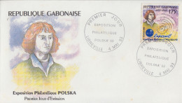 Enveloppe FDC  1er  Jour   GABON   Nicolas  COPERNIC   Exposition  Philatélique  POLSKA   1993