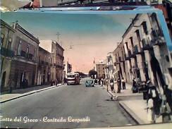 TORRE DEL GRECO - CONTRADA LEOPARDI MOLTO ANIMATA AUTOBUS  -VB1961 FV8590 Piccole Pieghine Ma RARA - Torre Del Greco