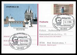 95165) BRD - SoST 6460 GELNHAUSEN 1 Vom 12.01.1984 Auf Postkarte PSo 8 - Philipp Reis - [7] Federal Republic