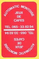 Dos De Carte : Automatic Montoise Jeux De Café Mons - Cartes à Jouer Classiques