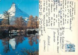 Matterhorn, VS Valais, Switzerland Postcard Posted 1986 Stamp - VS Valais