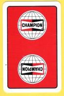 Dos De Carte : Champion Bougies D'allumage - Cartes à Jouer Classiques