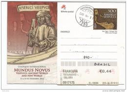 Portugal 2013: Amerigo Vespucci - Postal Stationery (Used) / Map, Quadrant, Explorer - Explorateurs