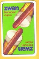 Dos De Carte : Saucisse Zwan Cigare Bierworst - Cartes à Jouer Classiques